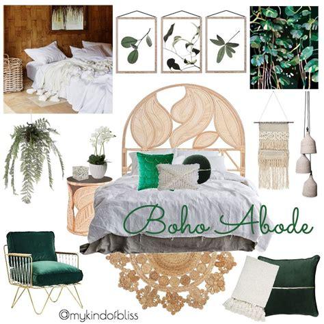 kind  bliss mood board boho bedroom bohemian decor