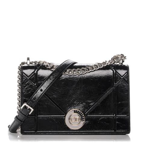 Diorama Classic Medium Flap Bag christian crinkled lambskin cannage medium diorama flap bag shiny black 191594