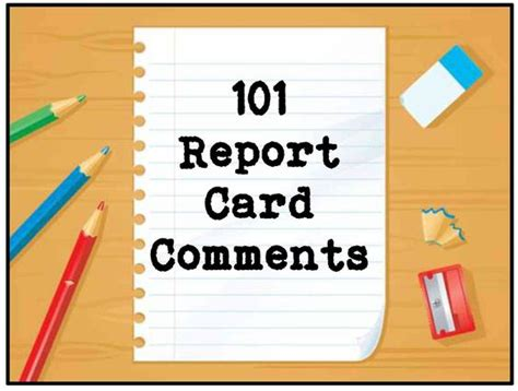 report card comments sles 101 report card comments to use now scholastic