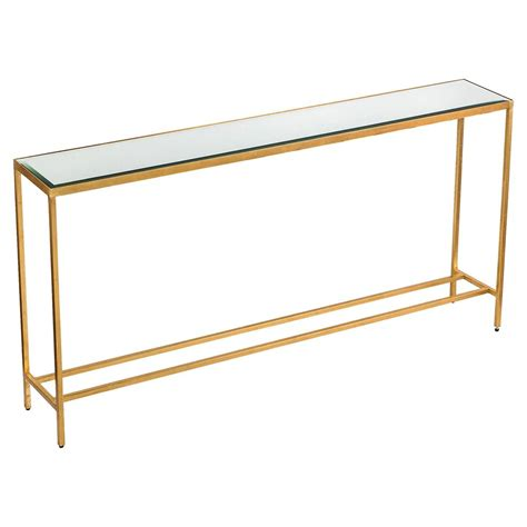 Gold Console Table Titan Modern Classic Gold Leaf Mirror Console Table Kathy Kuo Home