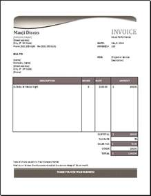 performance invoice template for excel excel
