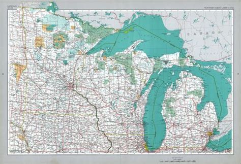 map of the united states showing great lakes northern great lakes states map united states