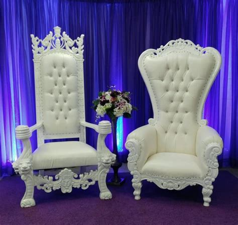 white throne chair chair king and queen set white throne rentals shreveport