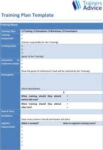 free training plan template formxls