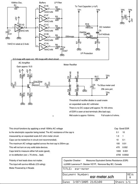 esr capacitor meter schematic index of schematics esr meter
