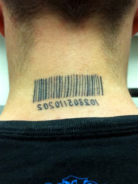 barcode tattoo on chest barcode tattoo on nape for men