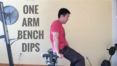 one arm bench one arm bench dips youtube