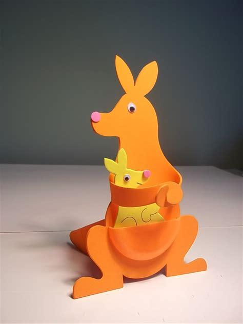 Kangaroo Paper Plate Craft - paper kangaroo paper craft