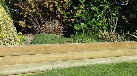 Rounded Garden Sleepers by Wooden Sleepers Add Character And Style To Gardens
