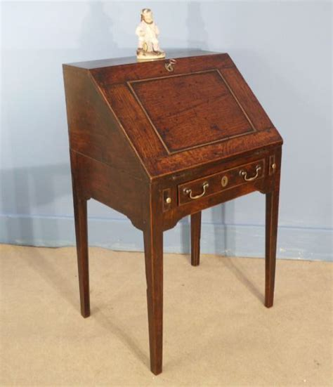 Small Antique Writing Desk Small Oak Bureau Writing Desk