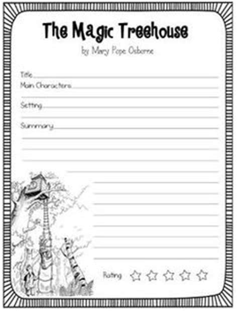 Magic Tree House Book Report Template 1000 Images About Magic Treehouse On Magic