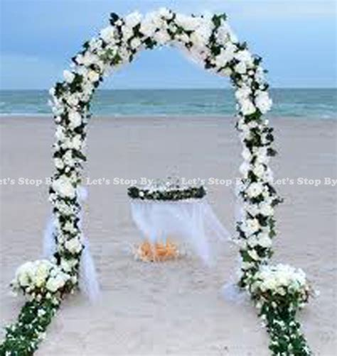 7 5 ft white metal arch for wedding bridal prom