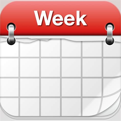1 week of day 26 days of the week calendar clip