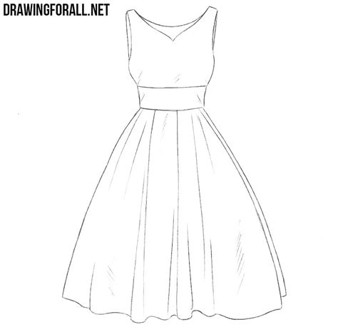 design dress step by step how to draw a dress step by step for beginners