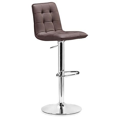 zuo modern bar stool zuo 174 modern oxygen bar stool bed bath beyond