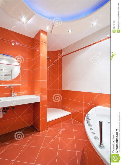 Powder Room Bathroom Ideas cuarto de ba 241 o en colores anaranjados y blancos foto de