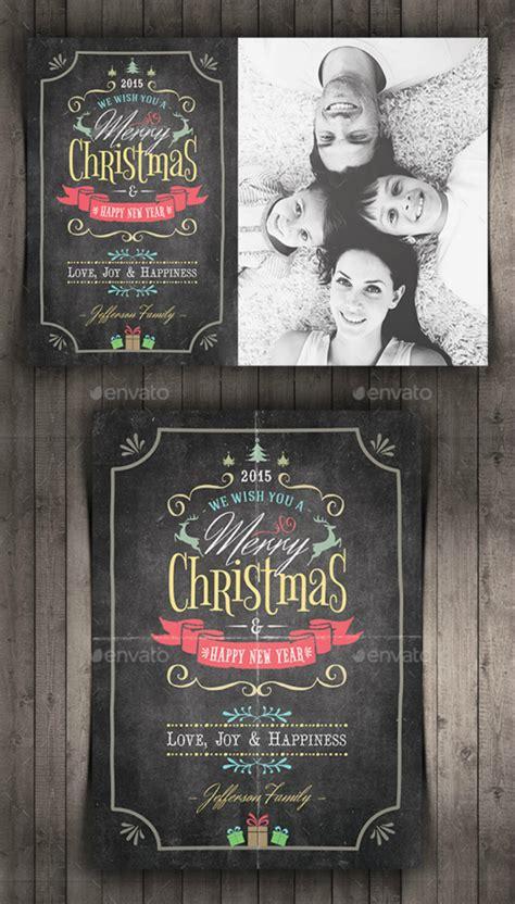10 Christmas Card Designs Free Premium Templates Chalkboard Card Templates