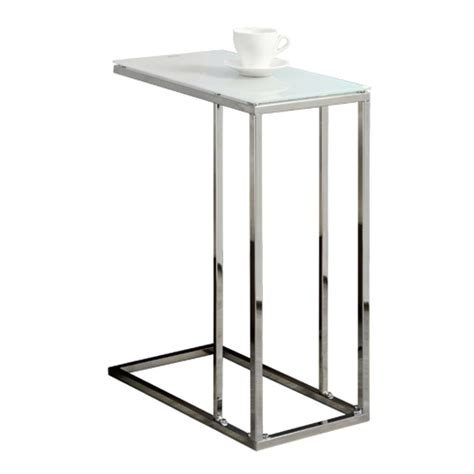 metal accent table with glass top accent table