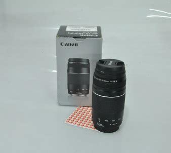 Lensa Canon Ultrasonic Ef 75 300mm jual lensa canon ef 75 300mm jual beli laptop bekas kamera bekas di malang service dan part