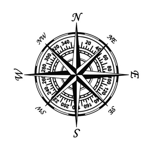 compass tattoo kosten 20 cm 20 cm nswe kompas nautische navigeren vinyl auto