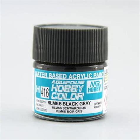 Mr Acrysion Water Based N2 Black Mr Hobby mr hobby gsi h416 rlm 66 black gray semi gloss 10ml gunze aqueous hobby color acrylic paint