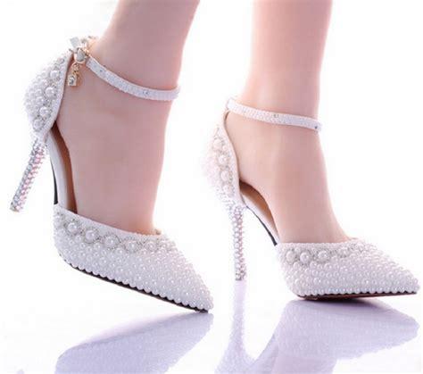 Brautschuhe Perlen by Pumps Wei 223 Perlen Hochzeit High Heels Schuhe Brautschuhe