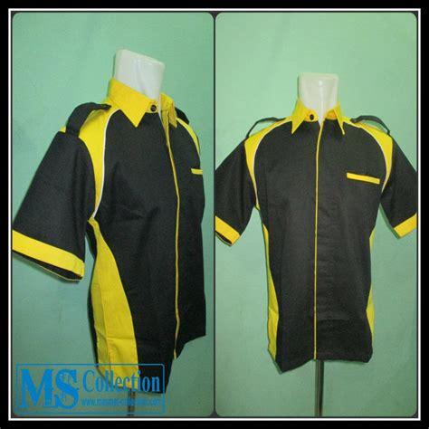 Baju Blouse Hitam Ascent Baju Branded Murah jual seragam kerja kuning hitam srg04 harga murah bogor oleh toko ms collection