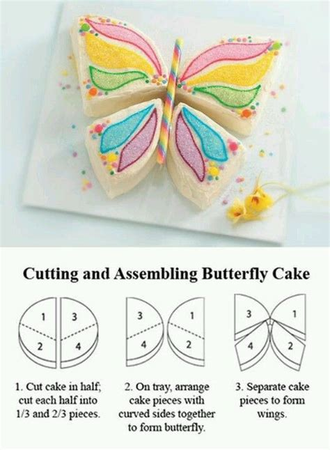 butterfly birthday cake pattern cakes pinterest