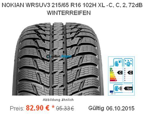 Mindestprofiltiefe Auto by Nokian Wr Suv 3 215 65 R16 102h M S Nur 82 90 Euro