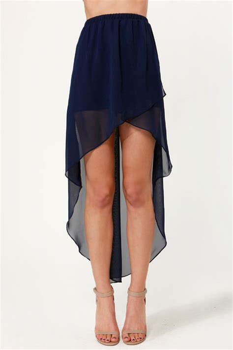 pretty high low skirt navy blue skirt 35 00