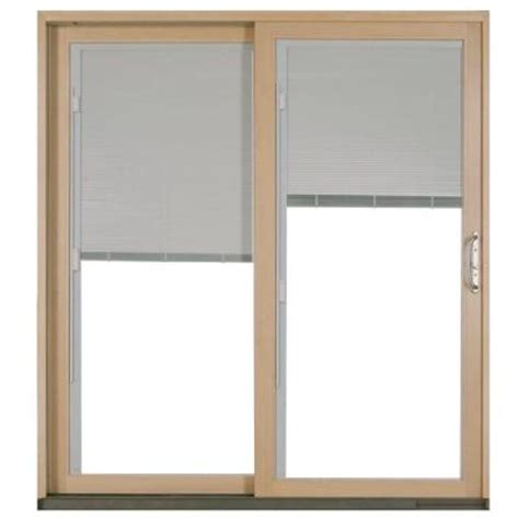 Sliding Wood Patio Doors Jeld Wen W 2500 White Left Aluminum Clad Wood Sliding Patio Door P73407 The Home Depot