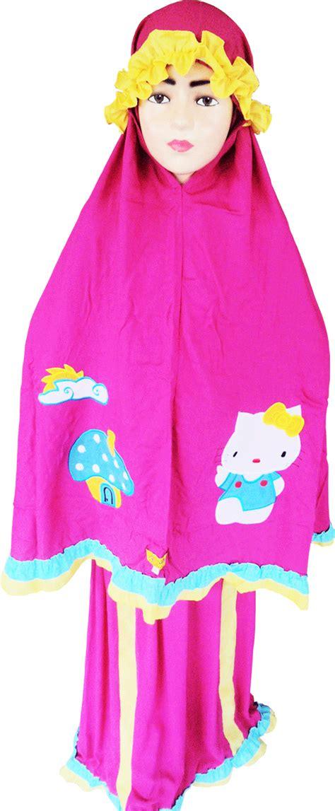 Mukenah Tulip Pink produsen mukena anak sajadah anak sarung anak