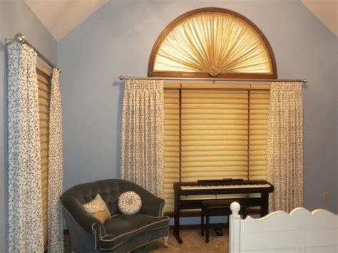 window top treatments arched top windows traditional bedroom other metro
