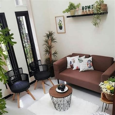 dekorasi ruang keluarga  penataan  simpel