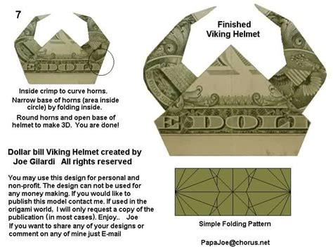 Origami Viking Helmet - viking helmet by joe gilardi