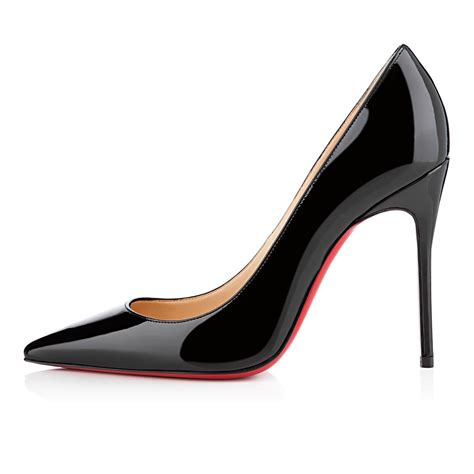 High Heels Shoes Christian Lauboutin 47a decollete 554 100 black patent leather shoes