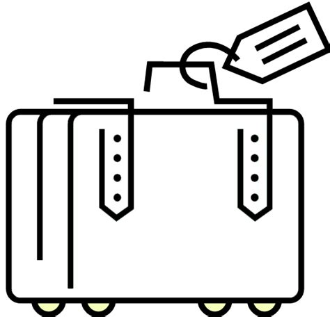 blank suitcase template blank suitcase clipart best