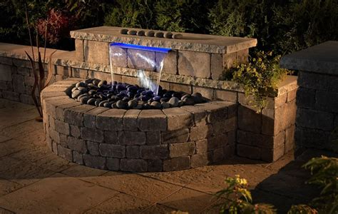 fireplace patio kit waterfall water feature for the