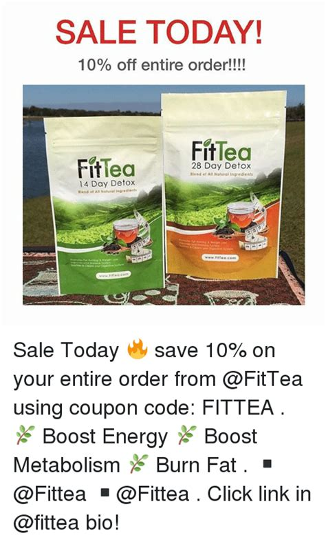 Link Detox Coupon Code sale today 10 entire order fittea ritlea 28 day
