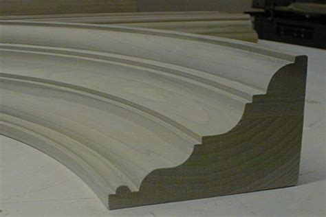 curved wood trim molding b h davis company curved crown mouldings and curved