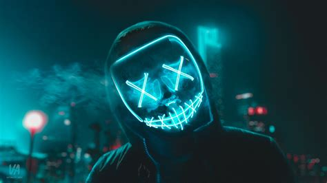 led mask  wallpapers hd wallpapers id
