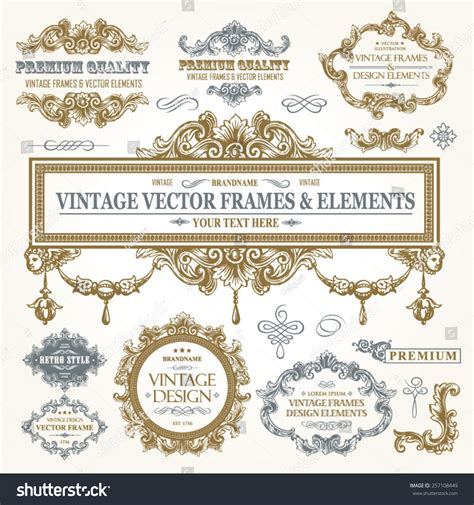 decorative baroque design elements vector vector vintage collection baroque antique frames stock
