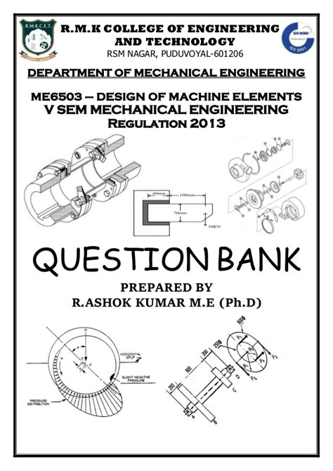design of machine elements question bank with answers design of machine elements question bank