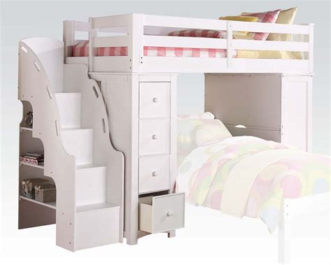 bunk bed with bookcase acme loft bed bookcase ladder ac37145