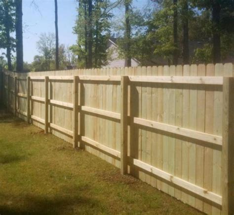 inside fence wood privacy fence pictures and ideas