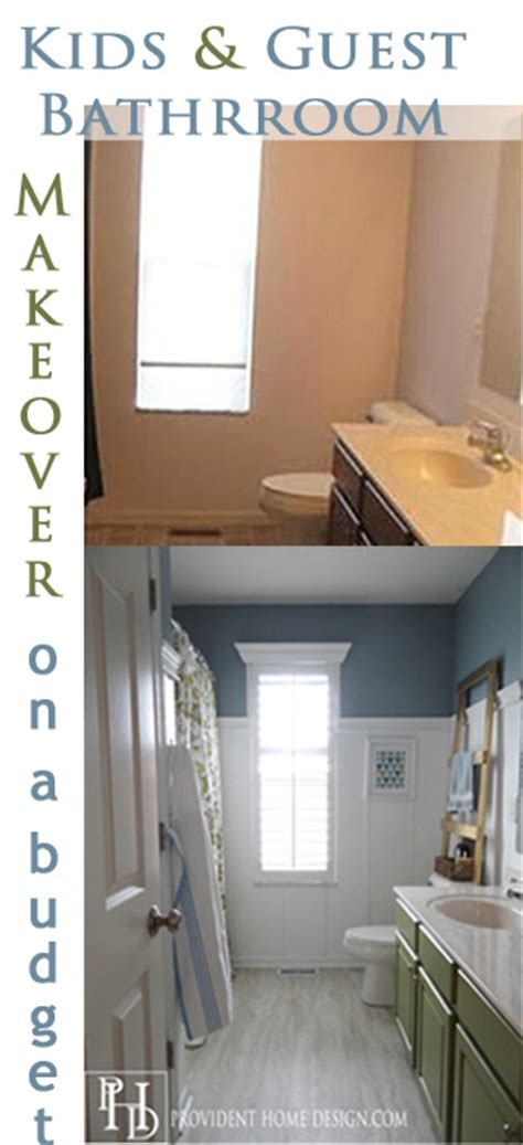 Ikea Bathroom Makeover by And Guest Bathroom Makeover On A Budget Vinyl Floor