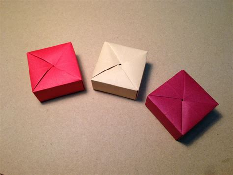 Cool Origami Gifts - origami gift box with one sheet of paper doovi