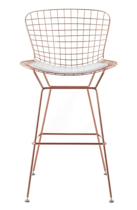 bertoia wire counter stool in gold finish bar