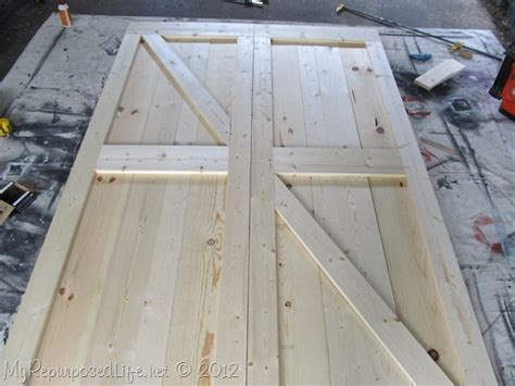 my repurposed barn door how to build diy barn doors my repurposed life