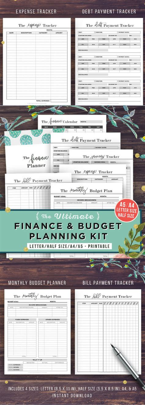Department Of Finance Budget Letter financial planner budget planner printable finance